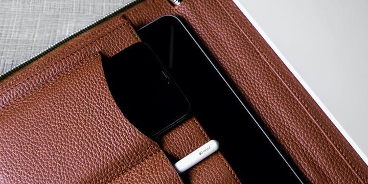 Portfólio A4 de Luxo - Castanho Tan - Couro Granulado